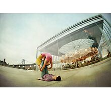 Acroyoga Practice at Brooklyn, New York Photographic Print
