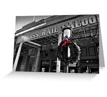Brass Rail XMas, Virgina City Greeting Card