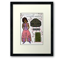 Good Better BEST Framed Print
