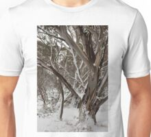 0529 Snowgum in the snow Unisex T-Shirt