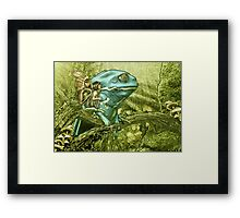 My Big Blue Buddy Framed Print