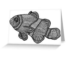 Clownfish Line Drawing Greeting Card