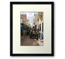 Moroccan Street Market Framed Print