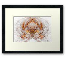 A mirror of flames III Framed Print