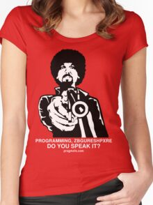 """ProgMofo, """"Less Optimized"""" Edition Women's Fitted Scoop T-Shirt"""