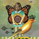 Little Miss Sunshine Vintage Altered Art Collage by Gidget26