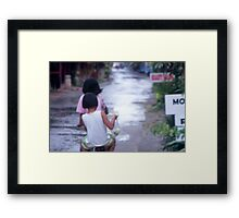Girls on a Bike Framed Print