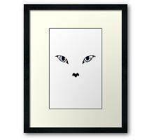 Ivory Eyes Framed Print