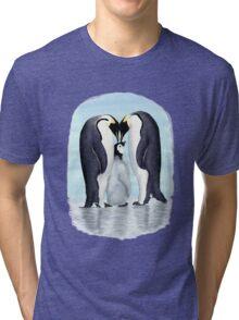 family of penguins Tri-blend T-Shirt