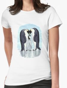 family of penguins Womens Fitted T-Shirt