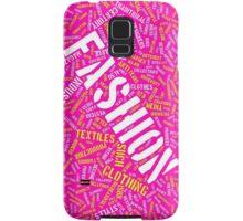 Hot Pink Fashion Typography Design  Samsung Galaxy Case/Skin