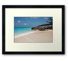 Beach on Rose Island, Bahamas Framed Print