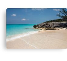 Beach on Rose Island, Bahamas Canvas Print