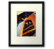 Escalation Overlap. Framed Print
