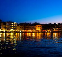 Crete at Night by slexii
