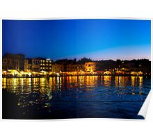 Crete at Night Poster