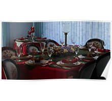 Christmas Diningroom Table Poster
