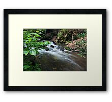 Bushkill waterfall creek with full spring water  Framed Print