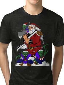 Hobo With A Shotgun? Try Santa With An Axe Tri-blend T-Shirt