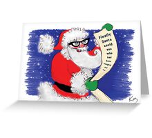 Kazart Santa Geek Christmas Card Greeting Card