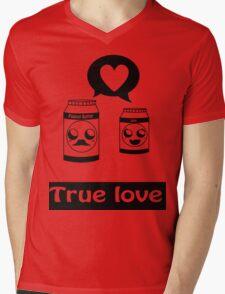 Pb&J love Mens V-Neck T-Shirt