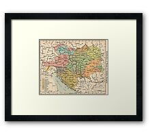 Vintage Map of Austria and Hungary (1911) Framed Print