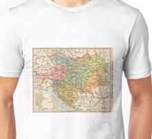 Vintage Map of Austria and Hungary (1911) Unisex T-Shirt