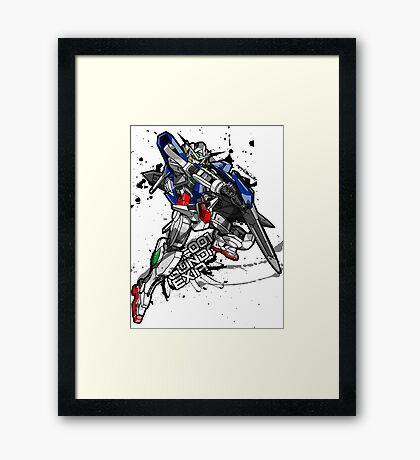 GN-001 Gundam Exia Framed Print