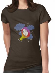 rainbow on my head Womens Fitted T-Shirt