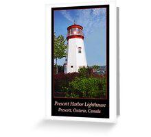 Prescott Harbor Lighthouse Greeting Card