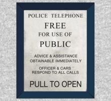 Police Box One Piece - Short Sleeve