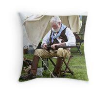 fighter of the Boers war reenactment   Throw Pillow