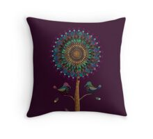The Mandala Tree Throw Pillow