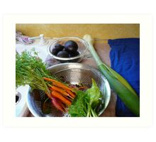 Produce from the fertile earth Art Print
