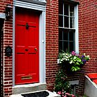 At the Red Door by KathMaster