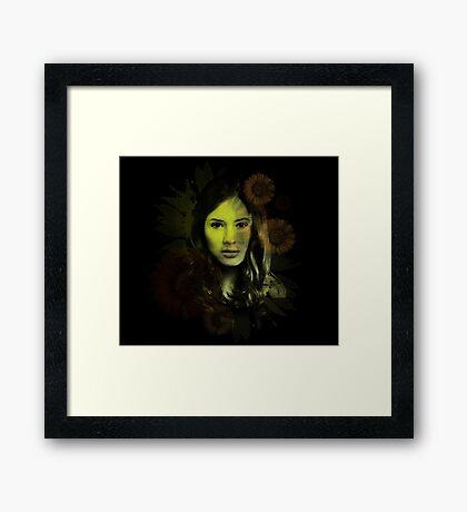Splatter Amy Pond Framed Print