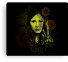 Splatter Amy Pond Canvas Print