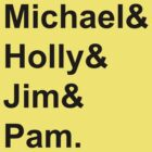 The Office Couples: Michael, Holly, Jim & Pam by Celeste Yim