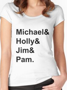 The Office Couples: Michael, Holly, Jim & Pam Women's Fitted Scoop T-Shirt