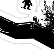 Snowboard Stairs to Chalk Outline Sticker