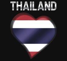 Thailand - Thai Flag Heart & Text - Metallic by graphix