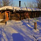 Pioneer Sod House (winter view) by Larry Trupp