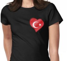 Turkish Flag - Turkey - Heart Womens Fitted T-Shirt