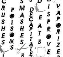 Spock Smashes  Scissors Sticker