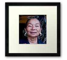 Thai Tribeswoman Framed Print