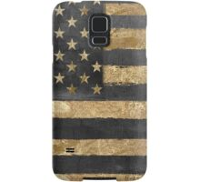American Flag Gold and Black  Samsung Galaxy Case/Skin