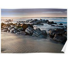 The Rocks in the Morning Light Poster