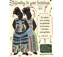 Following in your Footsteps Photographic Print