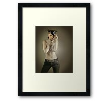 Girl of your dream wrapped up in plastic Framed Print