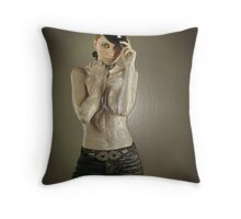 Girl of your dream wrapped up in plastic Throw Pillow